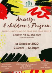 Anxiety, a workshop for kids @ MIA Liverpool Islamic Centre