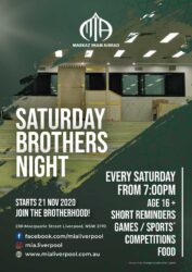 Saturday Brother Nights @ MIA Liverpool Islamic Centre
