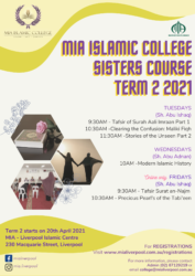 Term 2 MIC sisters @ MIA Liverpool Islamic Centre
